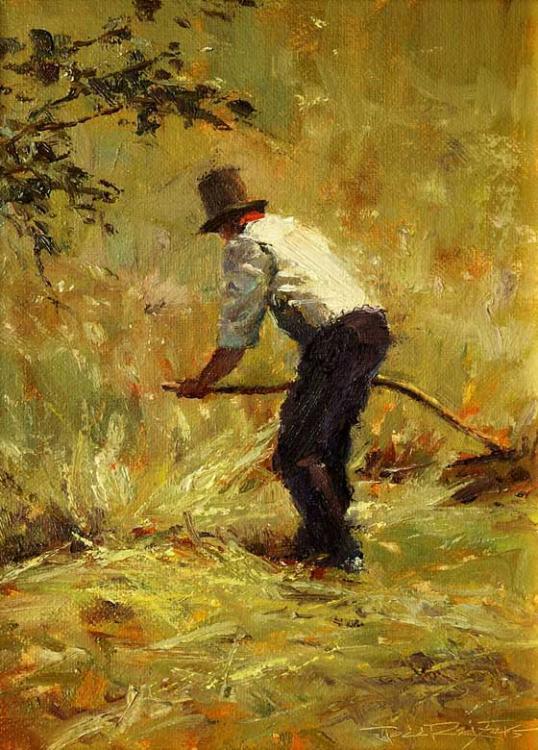 Man Scything Hay by Todd Reifers