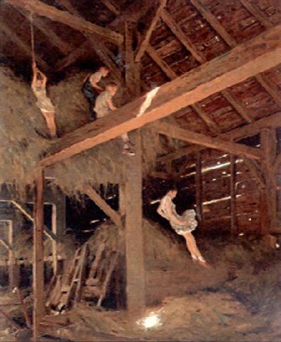 children-playing-in-hay-loft