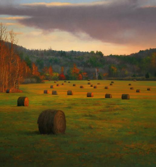 Hayfield--oil painting by Scott Prior www.scottpriorart.com