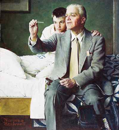 Portrait by Norman Rockwell