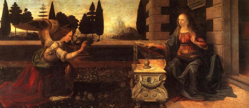 Leonardo Da Vinci--The Annunciation