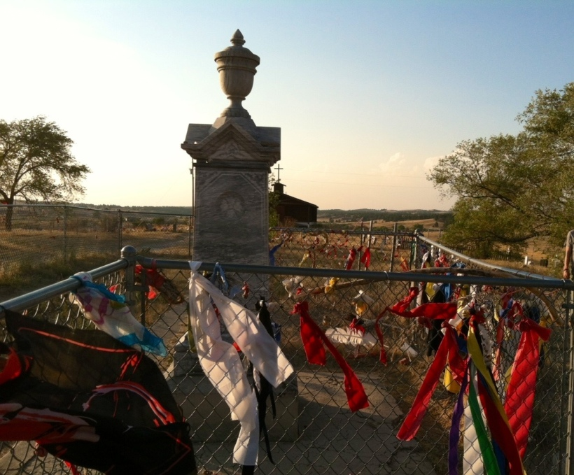 The mass gravesite at Wounded Knee, Pine Ridge Reservation, South Dakota