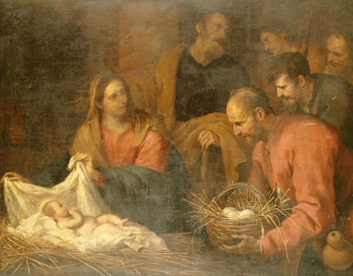 The Adoration Of The Shepherds. Giovanni Andrea De Ferrari