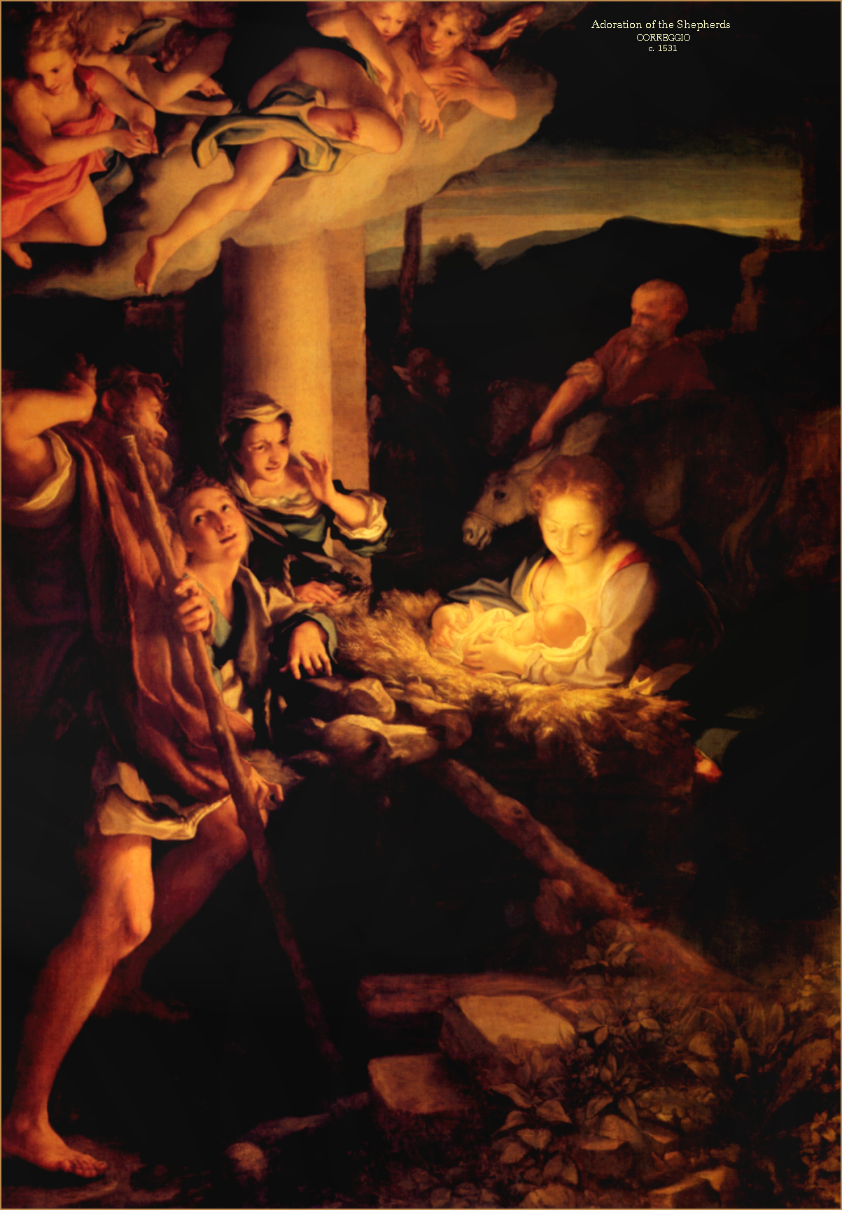 Adoration of the Shepherds by Correggio