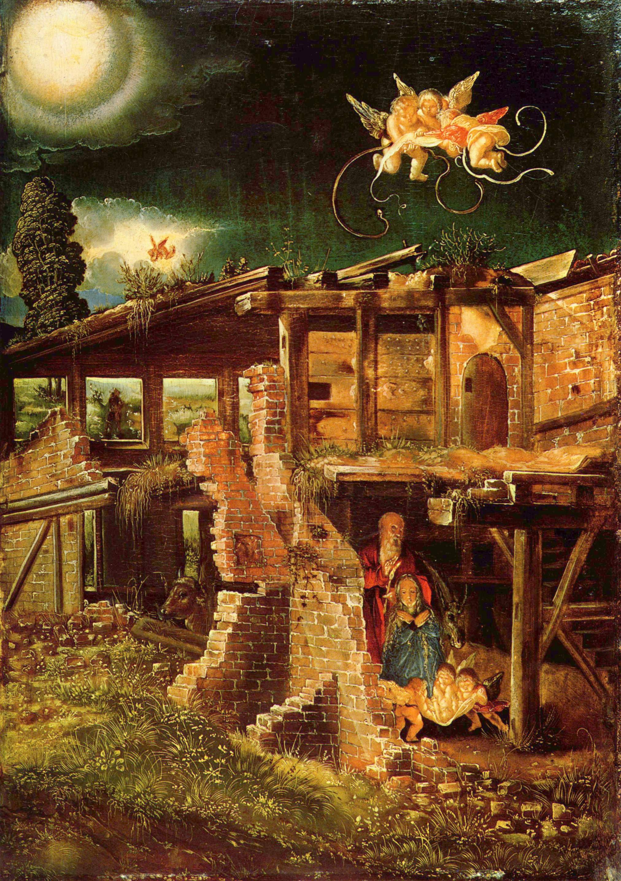 Altodorfer Nativity painted in 1511