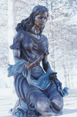 Rachel weeping for children who are no more, sculptor Sondra Jonson