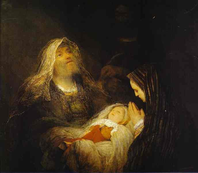 Song of Simeon by Aert De Gelder, a student of Rembrandt