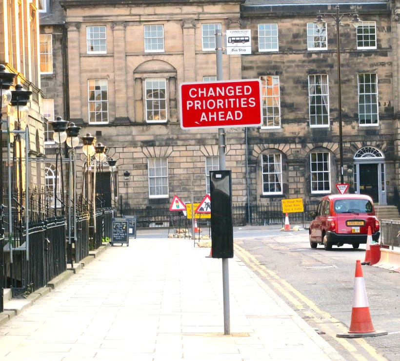 how the Scottish describe a torn up street in Edinburgh
