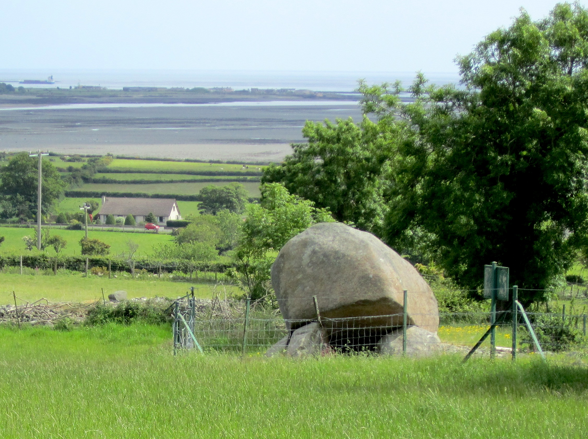 This dolmen is above the Irish Sea