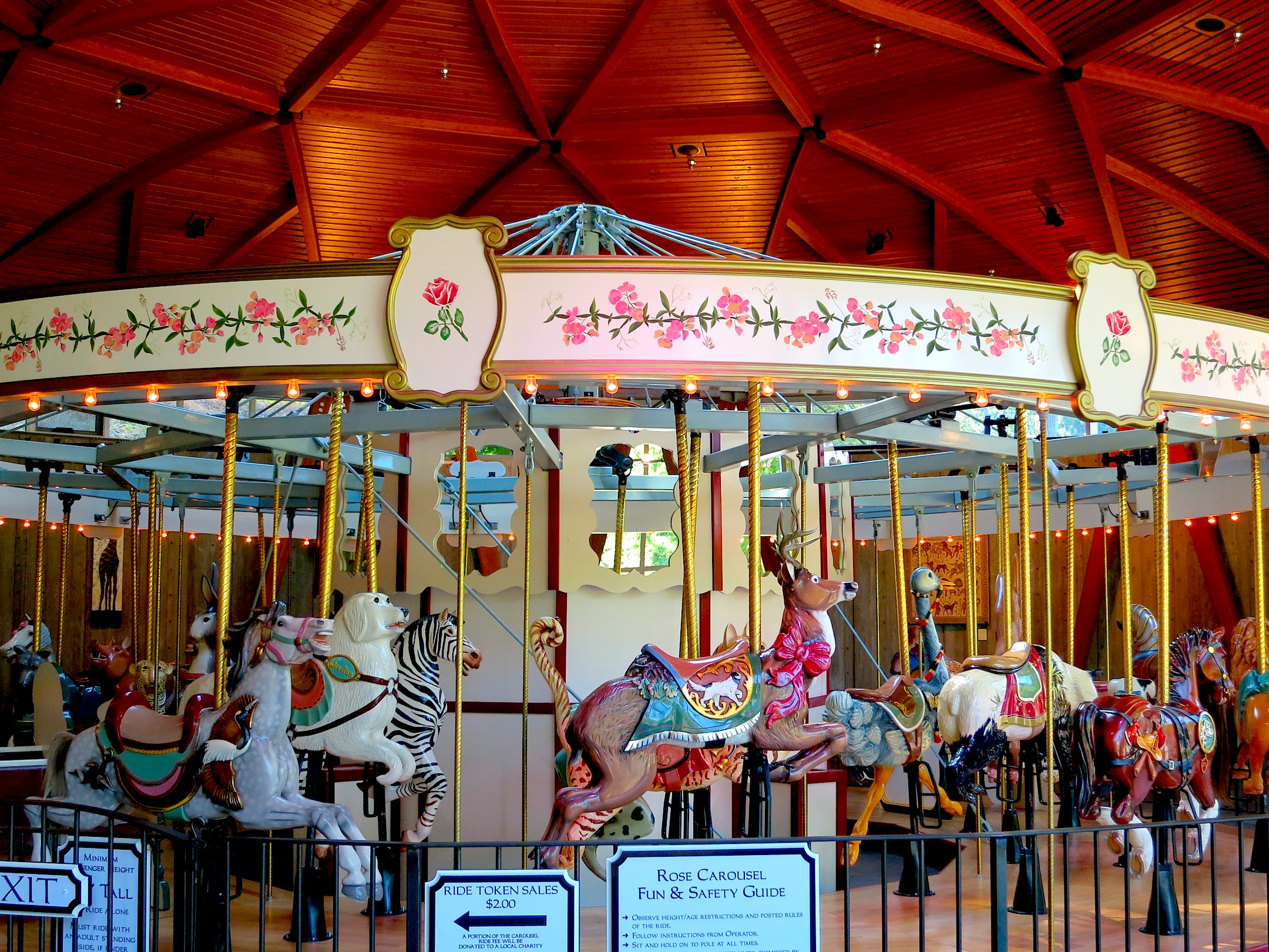all photos from the Rose Carousel of Butchart Gardens, Vancouver Island, British Columbia