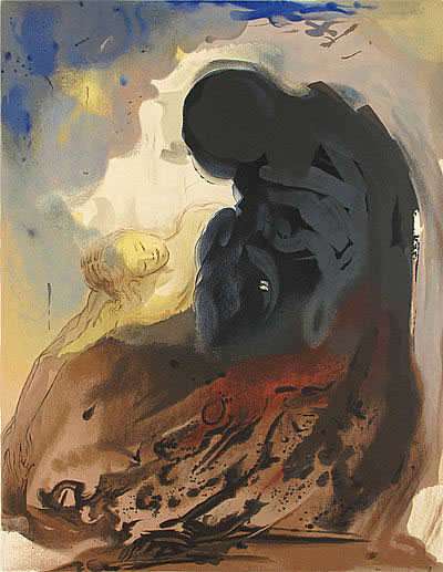 Rachel Weeping by Salvador Dali
