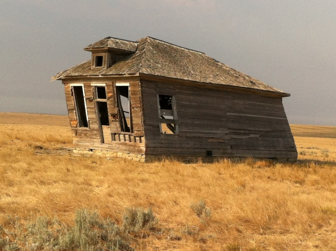 abandoned schoolhouse near Rapalje, Montana (actually from 2012)