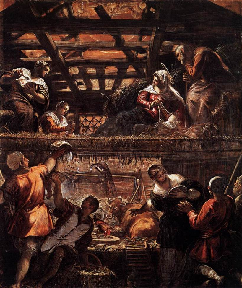 Adoration of the Shepherds--Tintoretto