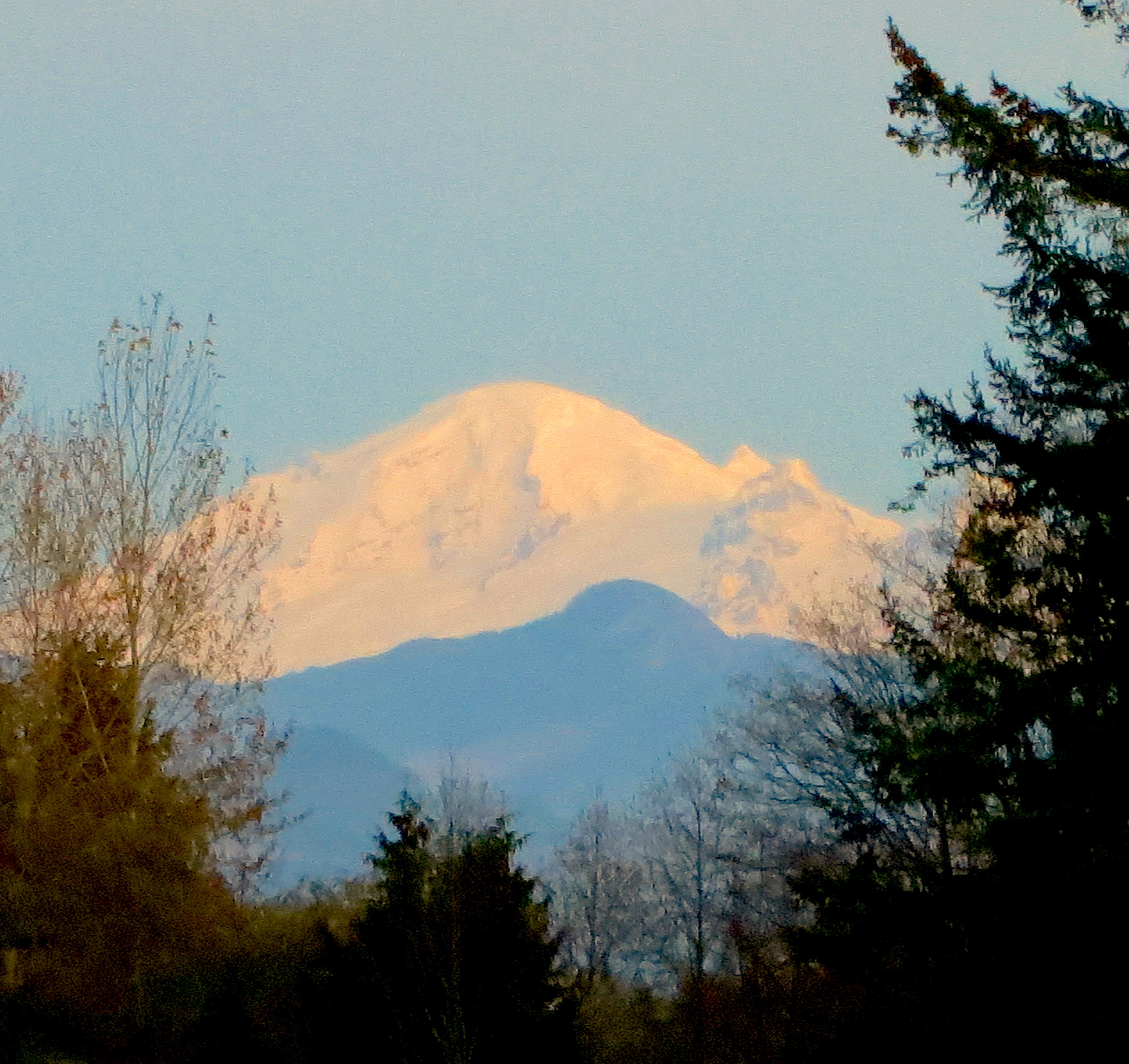 Mt. Baker last night with fresh snow