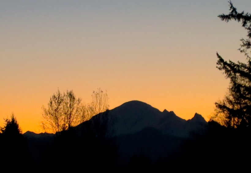 Mt. Baker at dawn today