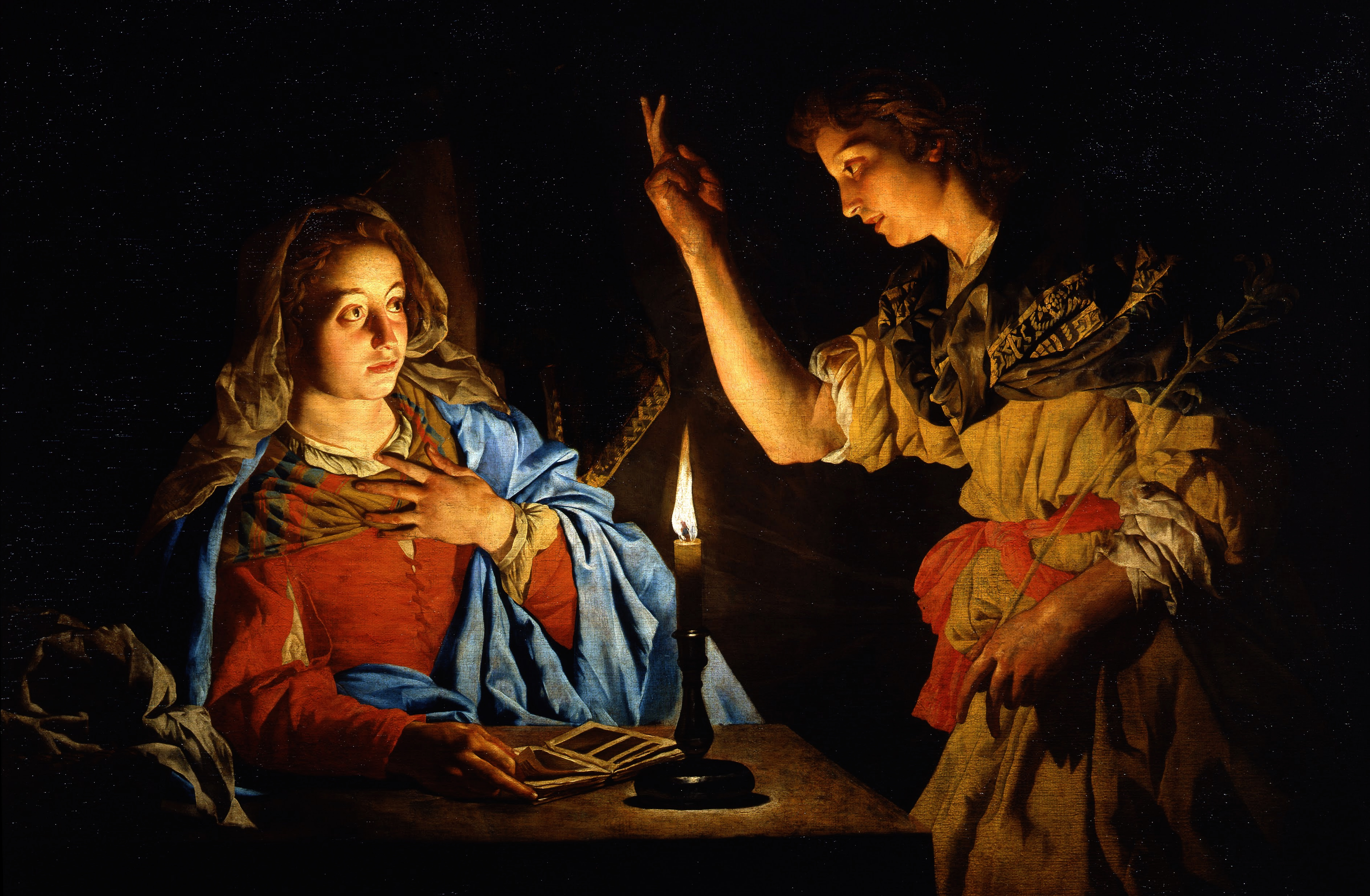 Matthias-Stomer-Annunciation-Painting