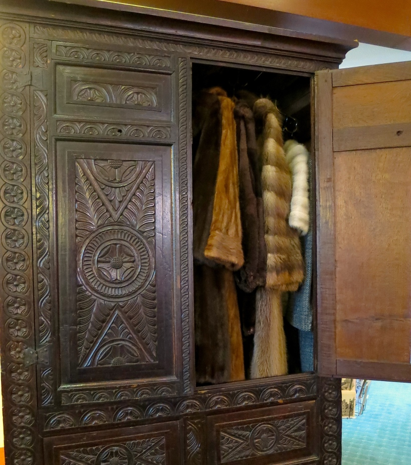 "the wardrobe from C.S. Lewis' childhood home built by his grandfather, later to serve as his inspiration for ""The Lion, the Witch and the Wardrobe"" in his home ""The Kilns"" at Oxford.  Now at the Marion Wade Center at Wheaton College, Illinois"