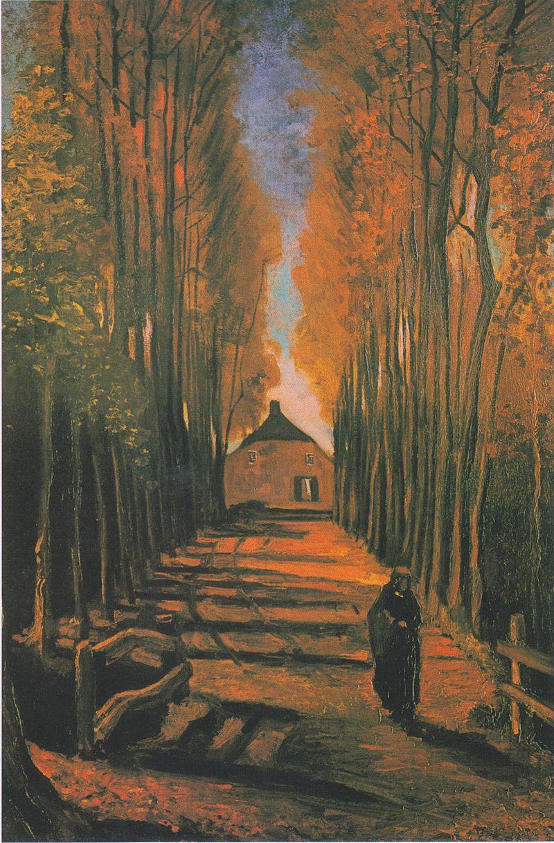 Van Gogh Poplars in Autumn