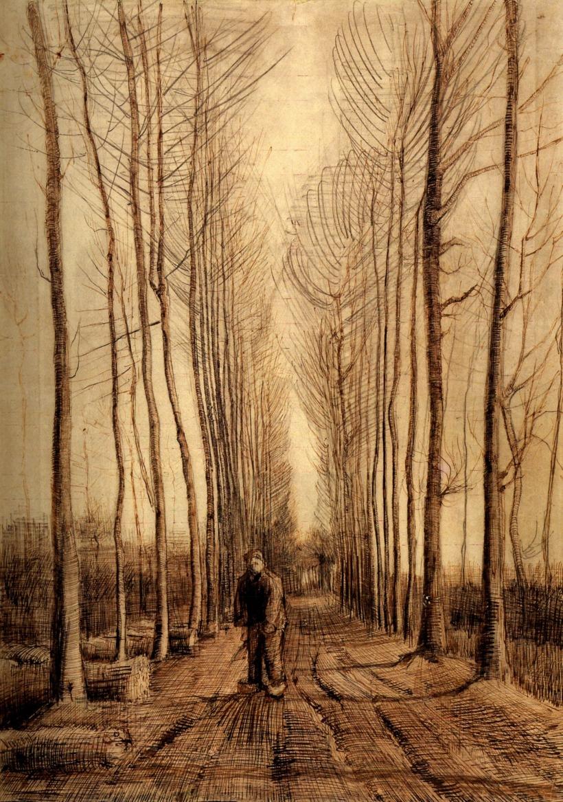 Van Gogh Avenue of Poplars